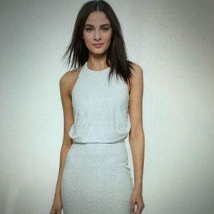 Badgley Mischa white sequin dress